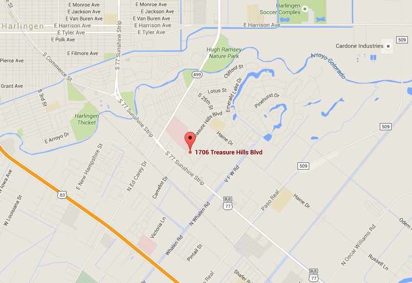 Harlingen location map